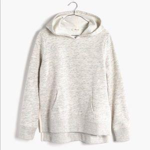 Madewell Gray Side Slit Hooded Sweatshirt